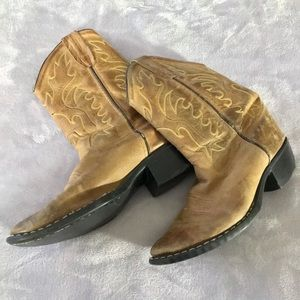 Old West Cowboy Leather Boots Women's Size 7